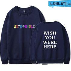 faea4c2b BTS Men Clothes 2018 Capless Hoodies Sweatshirts Travis Scotts ASTROWORLD  Print Tops Sweatshirts Harajuku Plus Size A8904-A8907