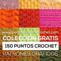patrones de 150 puntos crochet para descargar gratis en pdf Crochet Symbols, Crochet Motifs, Crochet Cross, Crochet Diagram, Crochet Chart, Knit Crochet, Crochet Patterns, Free Crochet, Crochet Gratis