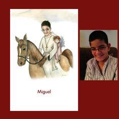 Miguel es un perfecto jinete