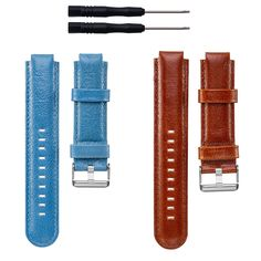 ECSEM Replacement Genuine Leather Bands Watch Straps for Garmin Forerunner 220/230/235/Forerunner 620/630/735XT & Garmin Approach S5/S6 Samrtwatch, 2pcs. New Replacement Genuine Leather Band Wrist Strap with Tool for Garmin Forerunner 220/230/235/620/630/735xt, Approach S5/S6 Wireless Band Wristband Bracelet. Perfect fit for your Garmin Forerunner 220/230/235/620/630/735xt, Approach S5/S6 Band activity tracker and comfortable wearing experience. Wristband: These premium genuine leather...