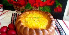 Reţetă din Bucovina: pască mândră cu brânză şi stafide   Paradis Verde Romanian Desserts, Romanian Food, Braided Bread, Easter Recipes, Deserts, Muffin, Goodies, Dairy, Food And Drink