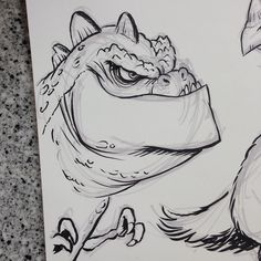 One more #imaginarydinosaur for @sketch_dailies #sketch_dailies #breaksketch #brushpen #dinosaur #cartoon