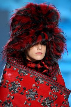 The mad hatter would go bonkers for this wild fur hat from the Marc Jacobs runway!