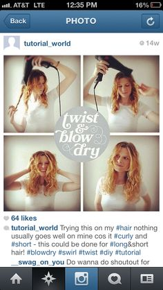 Blow dry waves