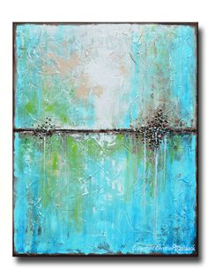 ART PRINTS Large Art Blue Abstract Painting par ChristineKrainock