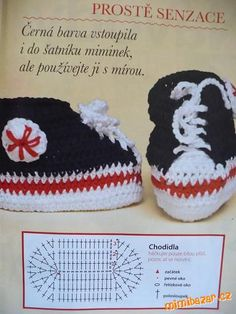 BOTIČKY TENISKY PRO MIMI - česky Crochet For Kids, Crochet Baby, Crochet Shoes, Baby Shoes, Clothes, Relax, Free, Tall Clothing, Clothing Apparel