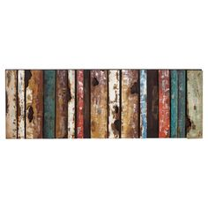 Featuring weathered stripes and a multicolor finish, this eye-catching metal wall decor brings a rustic touch to your home.  Product...