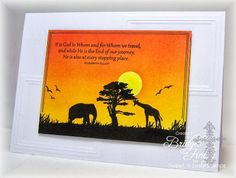 landscape  and nature silhouettes, Sweet 'n Sassy Stamps