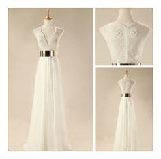 Gorgeous White Floor Length Prom Dresses, Wedding Dresses, Dresses For Prom, Evening Dresses,Wedding Dress,PD3900400