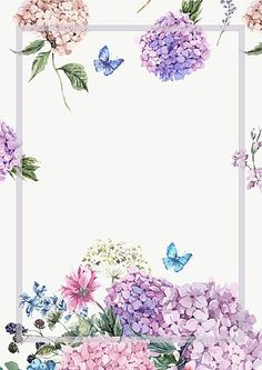Elegant Watercolor Flowers Frame background - Vector elegant watercolor painted fresh flowers background Source by Ankara Nakliyat Flower Background Wallpaper, Frame Background, Flower Backgrounds, Watercolor Background, Floral Wallpapers, Vector Background, Background Images, Frame Floral, Flower Frame