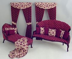 Formal Victorian Parlor Furniture, Dollhouse Miniature by Deb's Minis by debsminis, via Flickr