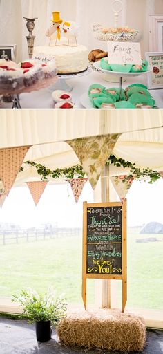 Rustic Marquee Wedding In The South West At Court Farm Near Bath With Bride In Charlie Brear Gown From The Decades Collection And Groom In N...