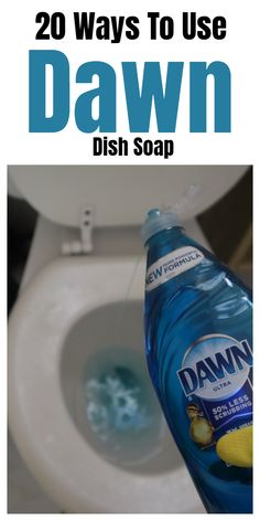 20 Ways To Use Dawn Dish Soap Dawn dish soap household and cleaning tips, tricks, and hacks. 20 Ways To Use Dawn Dish Soap Dawn dish soap household and cleaning tips, tricks, and hacks. Diy Home Cleaning, Bathroom Cleaning Hacks, Household Cleaning Tips, Homemade Cleaning Products, Deep Cleaning Tips, House Cleaning Tips, Natural Cleaning Products, Spring Cleaning, Green Cleaning