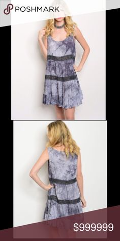 """🆕Gray Tye-Dye Dress 😍 Coming soon to my boutique! Such an adorable dress, perfect for so many occasions! Measurements are: L: 37"""" B: 36"""" W: 40"""". Bundle to save! Brandy Melville Dresses"""