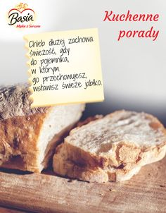 Świeży chleb Polish Recipes, Kitchen Hacks, Banana Bread, Dom, Drinks, Cooking, Fitness, Drinking, Kitchen