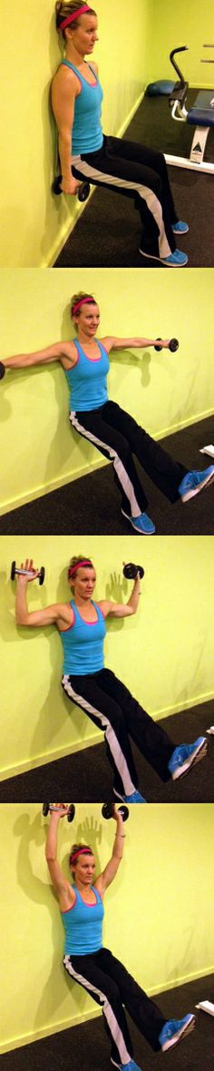 One-Legged Wall Sits with Shoulder Raises: This unconventional move challenges the upper and lower body.
