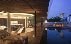 Beverly Hills Penthouse Rooftop Terrace in Singapore by BEDMaR & SHi Design Consultants