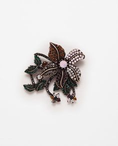 FLORAL BROOCH-View all-Woman-NEW IN | ZARA United States
