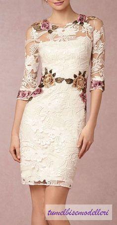 Dantelli Elbise Modelleri    Son zamanlarda en çok ilgimi çeken elbise modellerinden biri de dantel detaylı elbise modelleri. O ince detayl...