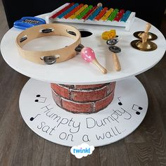 A simple transformation from plain cable drum to music table! A simple transformation from plain cable drum to music table! Cable Reel Table, Cable Spool Tables, Eyfs Classroom, Outdoor Classroom, Cable Reel Ideas For Kids, Cable Reel Ideas Eyfs, Music Area Eyfs, Curiosity Approach Eyfs, Early Years Classroom