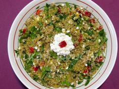 μικρή κουζίνα: Σαλάτα με κινόα, σπανάκι και τυρί cottage