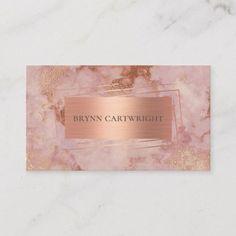Vintage Business Cards, Elegant Business Cards, Custom Business Cards, Wedding Cake Pearls, Gold Wedding, Wedding Bands, Rose Gold Marble, White Gold, Visiting Card Design