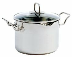 Norpro KRONA 7.5 Quart Vented Pot with Straining Lid by Norpro. $59.19. The TRI-PLY ENCAPSULATED BASE ensures increased heat conductivity, even heat distribution and protection from hot spots and burning.. Dual spouts which are ideal for straining vegetables,potatoes and pastas.. Capacity 7.5 quarts/7.2 liters. Simply turn lid to seal steam or use either 3mm or 6mm vent/drain holes.. This vented cooking pot has a specially designed pour spouts which are ideal for draining vegeta...