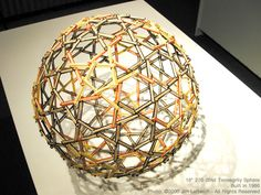 270 strut tensegrity sphere by Jim Leftwich