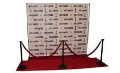 50 And Fabulous Birthday Backdrop Black 8x8 Carpets