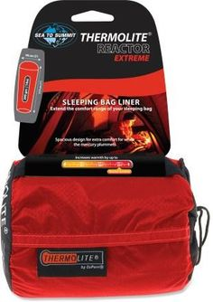 Add warmth to your sleeping bag with Sea to Summit Thermolite Reactor Extreme Mummy Bag Liner