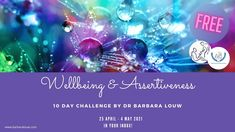 10 Days Wellbeing and Assertiveness Challenge in your inbox! Free! 25 April – 4 May 2021. By Dr. Barbara Louw I am offering the 10 Days Wellbeing and Assertiveness Challenge for you to rekindle your inner self-worth. #DrBarbaraLouw #assertiveness #trauma #wellness #wellbeing #challenge Victim Support, 10 Day Challenge, Legal Advisor, Business Advisor, Assertiveness, Trauma, Helping People, Encouragement, Challenges