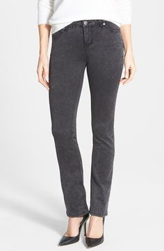 Liverpool Jeans Company 'Sadie' Supersoft Stretch Straight Leg Jeans (Black Acid) available at #Nordstrom