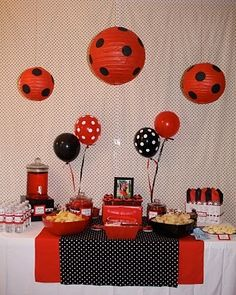 Ladybug party decor