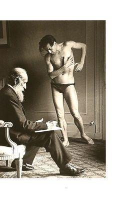 Aristide Maillol drawing Serge Lifar.