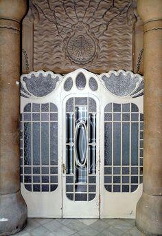 Art Nouveau Entrance. Barcelona, Spain.