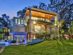Luxury Contemporary Home in Fig Tree Pocket, a suburb of Brisbane on the Brisbane River, Queensland, Australia. Custom Home Designs, Custom Homes, Luxury Home Decor, Luxury Homes, Luxury Life, Brisbane River, Brisbane Cbd, Halls, Resort Style