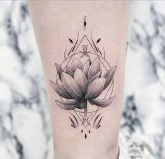 Illustration fine line lotus geometric tattoo Dainty Flower Tattoos, Lotus Flower Tattoo Design, Flower Tattoo Arm, Dragonfly Tattoo, Lotus Tattoo, Wrist Tattoos For Women, Back Tattoo Women, Cycling Tattoo, Key Tattoos