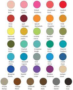 Ranger Tim Holtz Distress Oxide Ink Pad Colour Chart