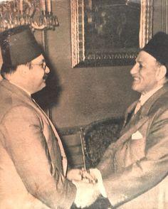جلالة الملك فاروق يصافح النحاس باشا