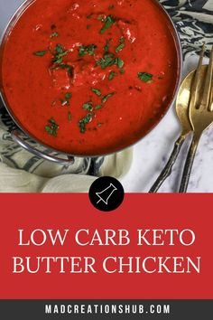 Low Carb Keto Butter Chicken is the best keto curry ever. Easy to make and huge on flavour this is one low carb chicken recipe you are going to love. Three ways to cook it, including stovetop and Instant Pot! Low Carb Chicken Recipes, Low Carb Recipes, Keto Chicken, Healthy Recipes, Lunch Recipes, Dinner Recipes, Dinner Ideas, Entree Recipes, Lunch Ideas