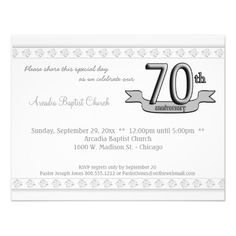 Silver Damask 70th Anniversary Celebration Invite In our offer link above you will seeThis Deals          Silver Damask 70th Anniversary Celebration Invite lowest price Fast Shipping and save your money Now!!...