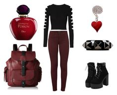 """""""Cupid"""" by lexi-grimm on Polyvore featuring Cushnie Et Ochs, J Brand, Valentino, Kenneth Cole Reaction and Christian Dior"""
