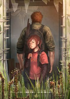 "pixalry: ""The Last of Us: Through the Windows - Created by Kou-Chann "" Last Of Us, The Lest Of Us, Joel And Ellie, Fanart, Classic Video Games, Dog Games, Sarada Uchiha, Post Apocalypse, Through The Window"