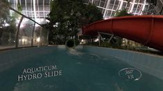 Aquaticum Hydro Slide (Green, Night) 360° VR POV Onirde Vr, Night, Outdoor Decor, Green