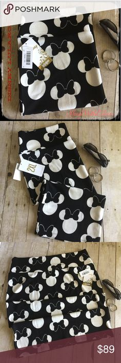 Disney Lularoe Black White MINNIE Cassie Skirt  Disney Lularoe Black White MINNIE Cassie Skirt ~ OMG!!!! How amazing is this! The Cassie is a very flattering pencil skirt! The skirt's waistband flatters all body types and enables the wearer to adjust the length as needed. The fabric is very stretchy but has great shaping! 96 % polyester 4% spandex Wear it with leggings when chilly or alone for warmer weather. You will live in this skirt all year long. Very comfortable ... Whether you were…
