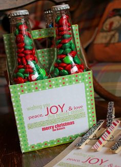How to make a gift basket from old bottle totes--From our Front Porch Looking In: DIY {christmas gifts}