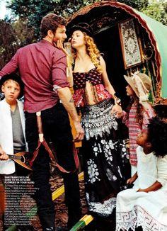 "Vogue, April 2012: ""Summer of Love"" w/ Raquel Zimmerman"
