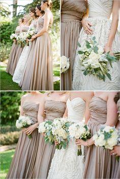 ベージュでナチュラルカラー beige & natural tone bridesmaids