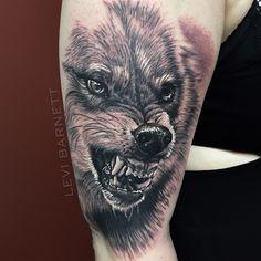 Better shot of this wolf I did @tatsupsupplyco @hustlebutterdeluxe #wolf #wolftattoo #blackandgrey #blackandgreytattoo #realism #RitesOfPassage @empire.collective