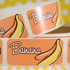 Banana Bakery Labels from Layer Cake Shop!  Pkg. of 36 for $1.75!